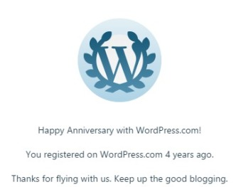 4 years blogging